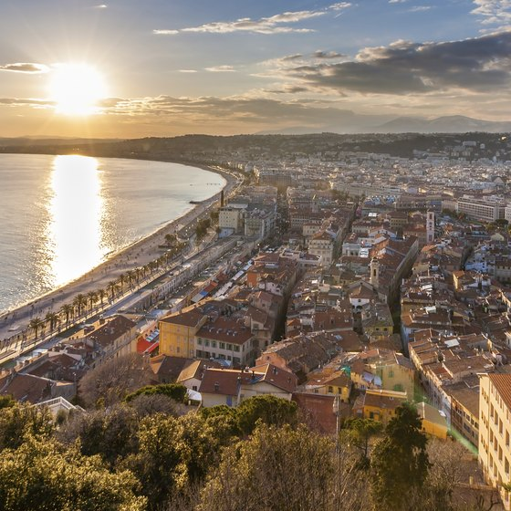 Take in the sea views from the coastal city of Nice during your month in France.