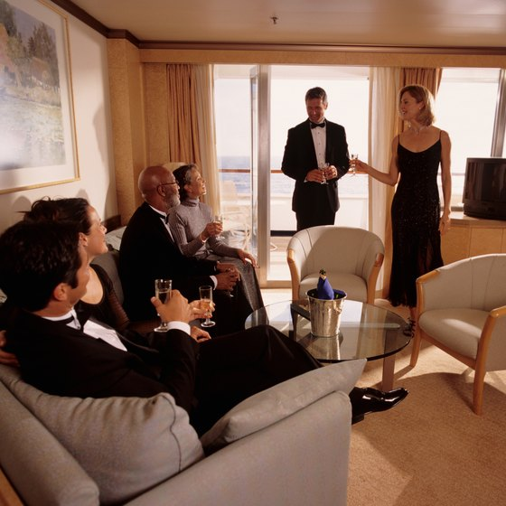 For a couples getaway, ask the cruise ship company for any special romantic packages.