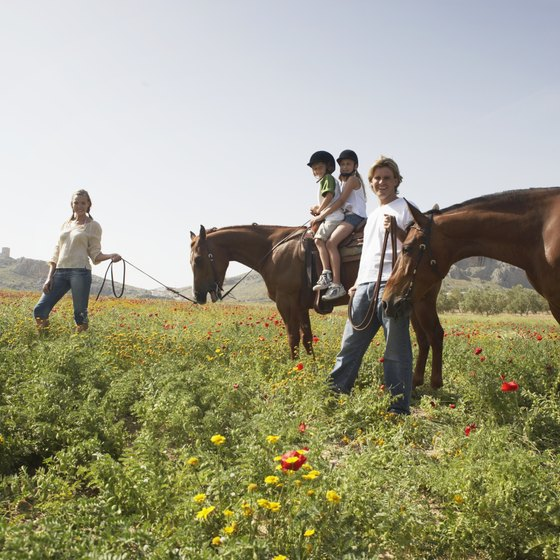 Spend quality family time on horseback at a dude ranch.