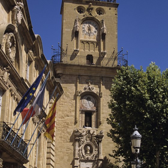 One of the sights of Aix-en-Provence.