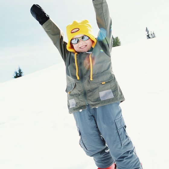 The focus is on fun at ski camps for kids.