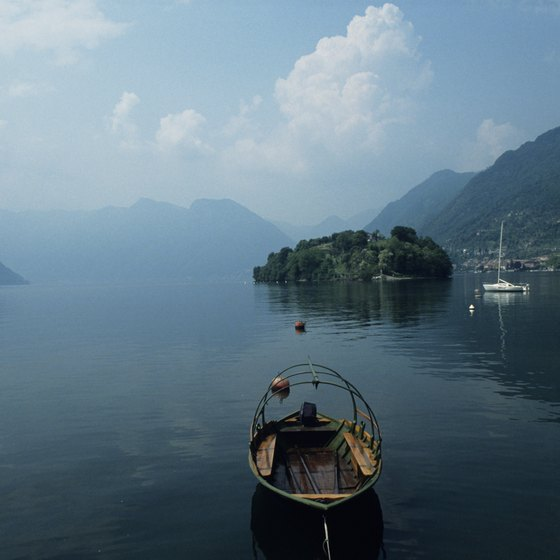 Mornings are misty and serene on Lake Como.