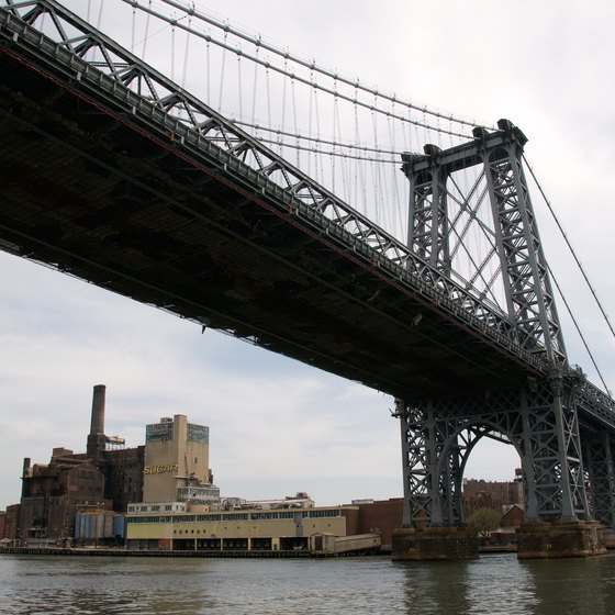 The Williamsburg Bridge connects the Lower East Side to some of Brooklyn's trendiest neighborhoods.