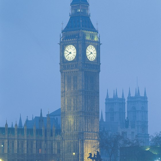 Big Ben looms over Parliament House.