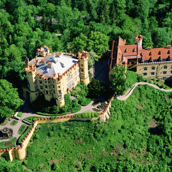 Many travelers to Bavaria visit the famous Hohenschwangau and Neuschwanstein castles.