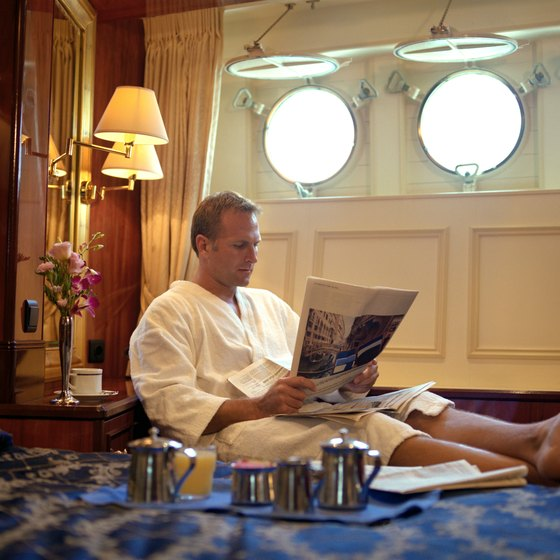 Guests in the largest luxury suites on the Queen Mary 2 are welcomed by Champagne and strawberries.