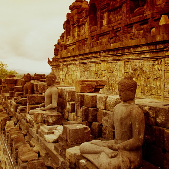 Borobudur Temple is one of many monuments in Indonesia.