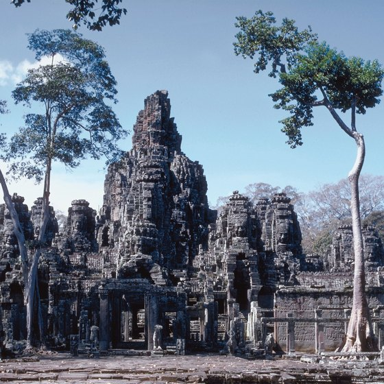Many travelers hop from Vietnam to Cambodia to see the temple complex at Angkor Wat.
