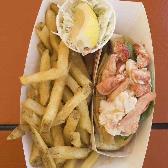 Lobster rolls are a New England favorite.