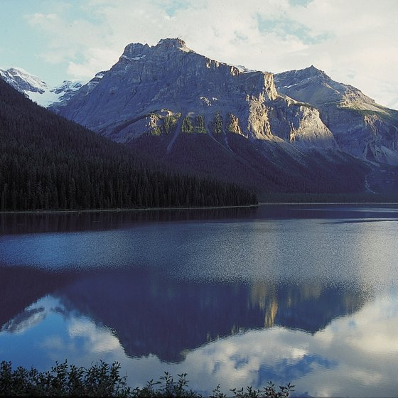 Banff National Park provides views of the Canadian Rockies.