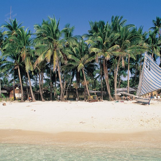 The countless unspoiled beaches of the Philippines make great sites for tent campers.
