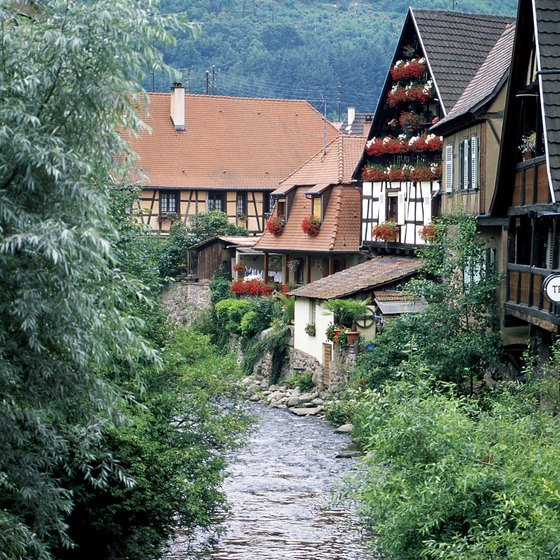 Many picturesque villages lie along the Alsace wine route.