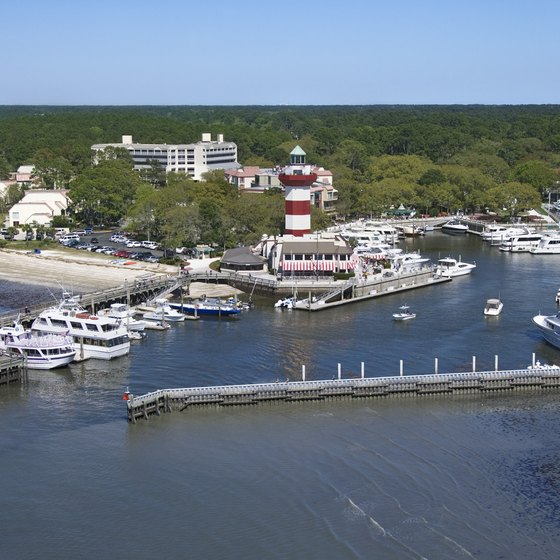 Hilton Head Island's Harbour Town is a romantic spot to include in a miniature South Carolina honeymoon.