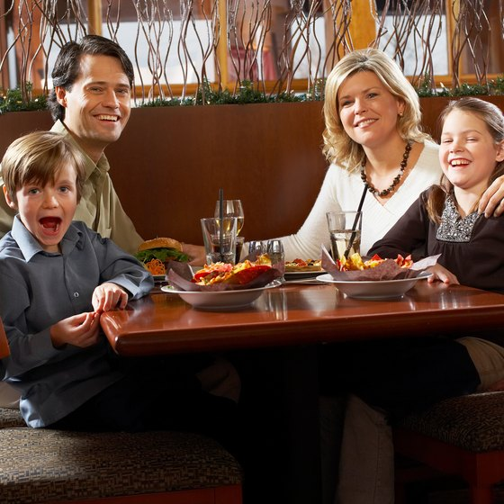 Kid-friendly restaurants welcome kids with a friendly atmosphere.