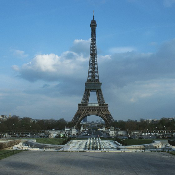 Paris' Eiffel Tower is one of Europe's best-known landmarks.