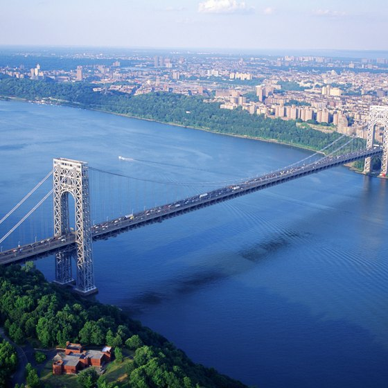 If you're driving or taking a taxi to JFK Airport from Hackensack, you'll pass over George Washington Bridge.