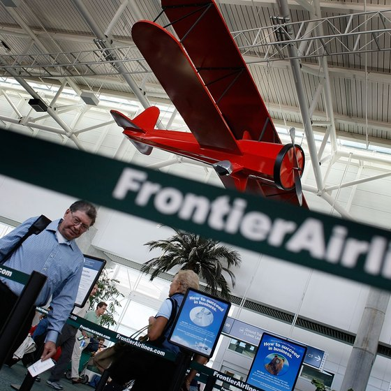 Frontier Airlines provides service to more than 80 cities.