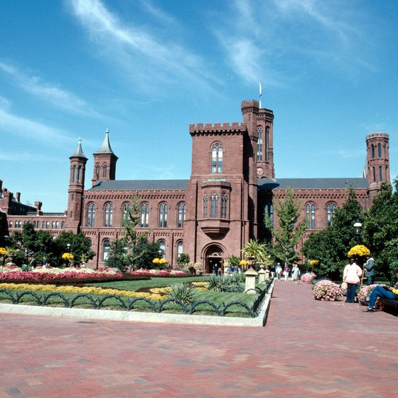 The instantly recognizable Smithsonian Institution building is made of red Seneca sandstone.