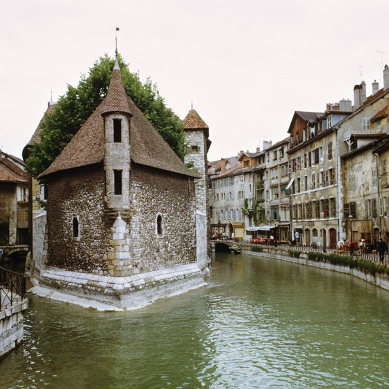 Annecy is a picturesque small city with views of the French Alps.