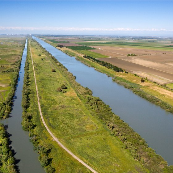 The Sacramento River and the surrounding California Delta.