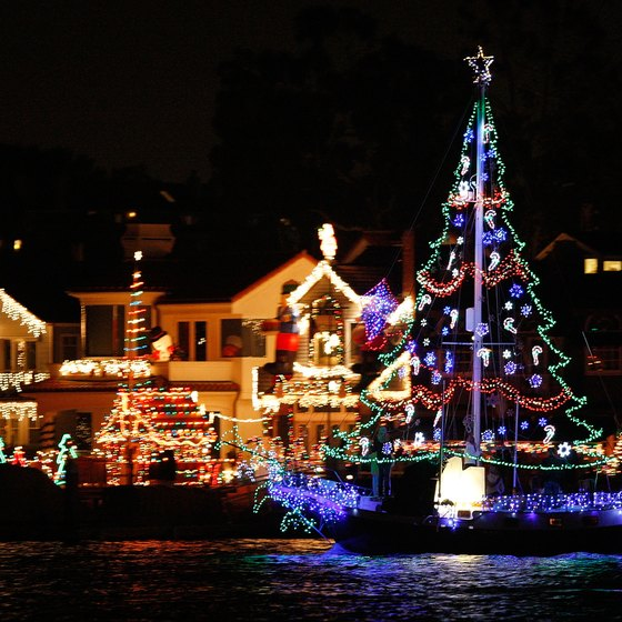 The Christmas Boat Parade in Newport Beach, California is one of the best in the nation.