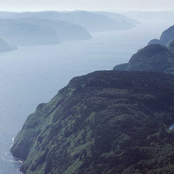 The rugged landscape of northern Quebec is lined with dramatic, misty fjords.
