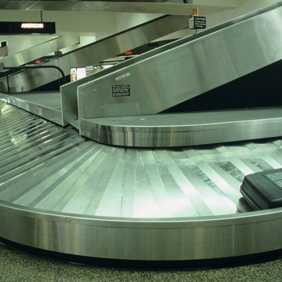 If you don't see your bag at baggage claim, report it to Lufthansa.
