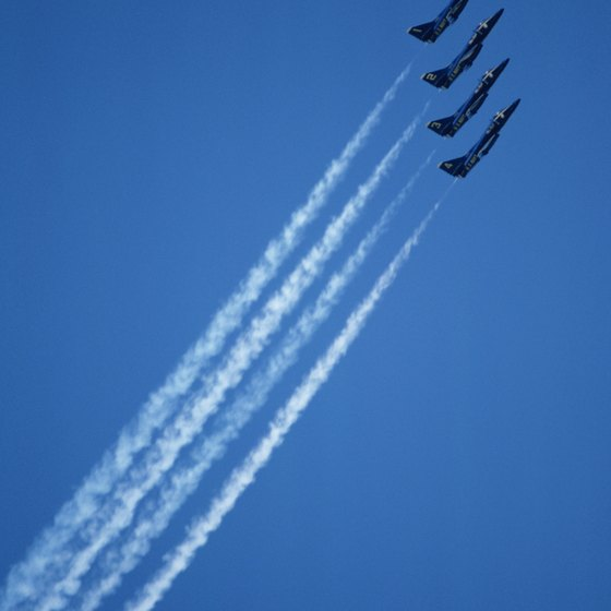 The Blue Angles flight demonstration squadron calls Pensacola Naval Air Station home.