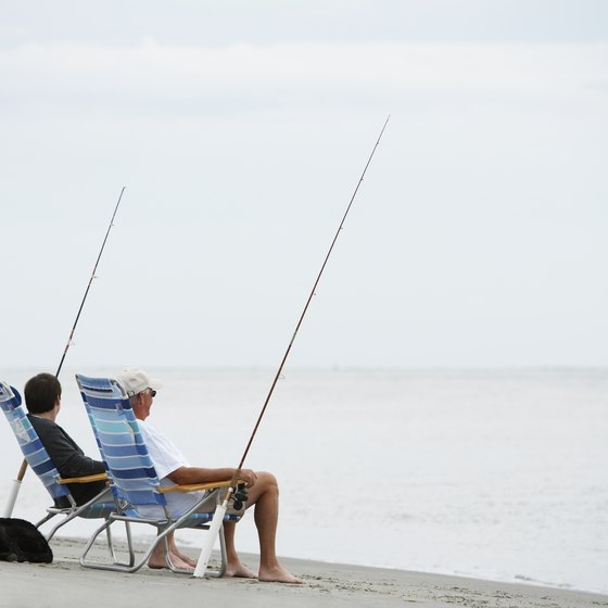 Surf fishing can help you while away the time on relaxed Edisto Beach.