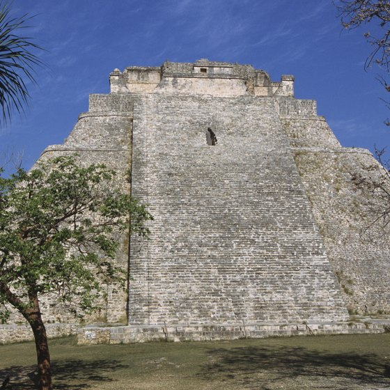 The Uxmal ruins lie along Mexico's Mayan Riviera, a prominent beach destination.