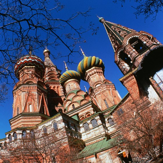 St. Basil's Cathedral numbers among Moscow's most famous destinations for visitors.