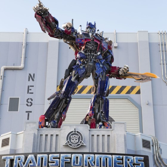 Optimus Prime is waiting to greet you at Universal Studios Orlando.