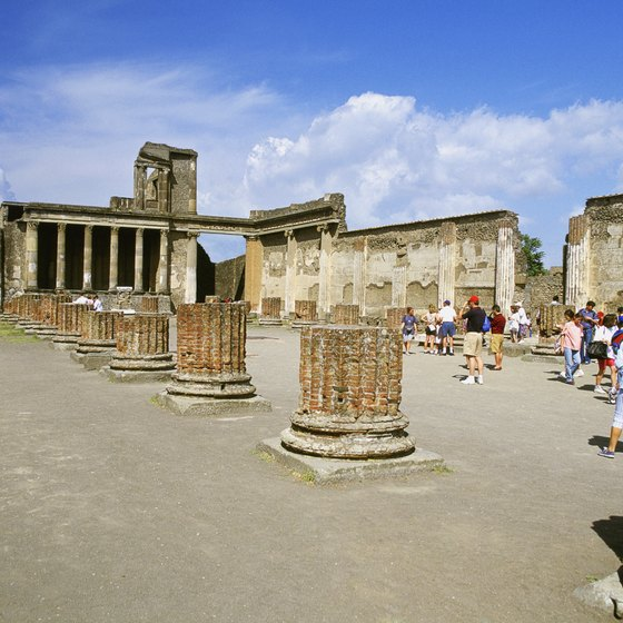The basilica in Pompeii as it is today.