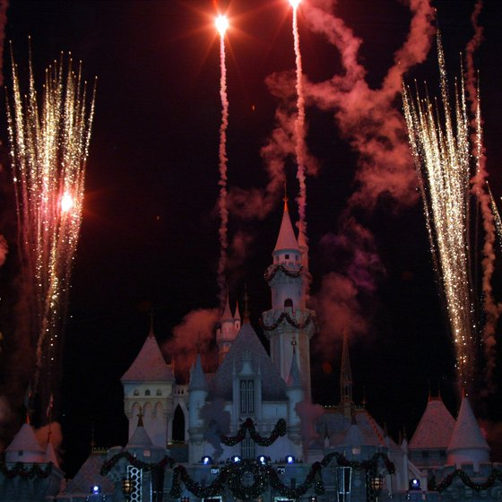 Throngs of locals go to Disneyland at night to see fireworks.