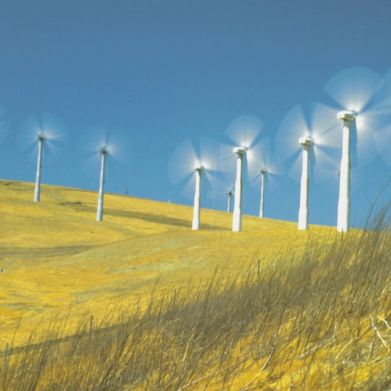 From the paths around Livermore, vistas include plenty of examples of wind technology.
