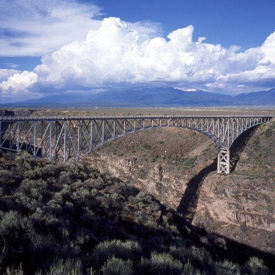 New Mexico's tallest bridge was the second highest in the country when it was built.