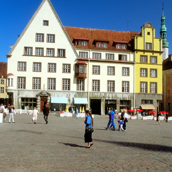 Tallinn's Old Town Square attracts tourists with its historic charm.