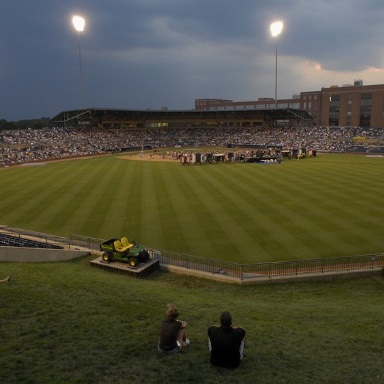 Visit the Durham Bulls minor league baseball stadium for a game.