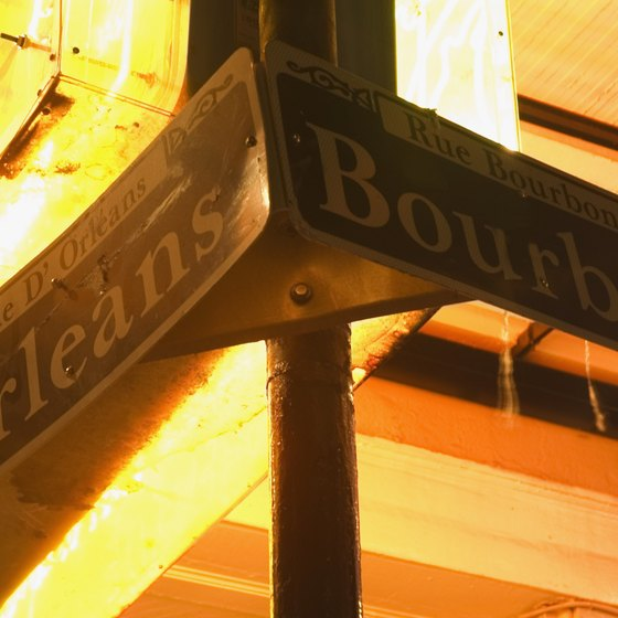 Bourbon Street is the party capital of New Orleans.