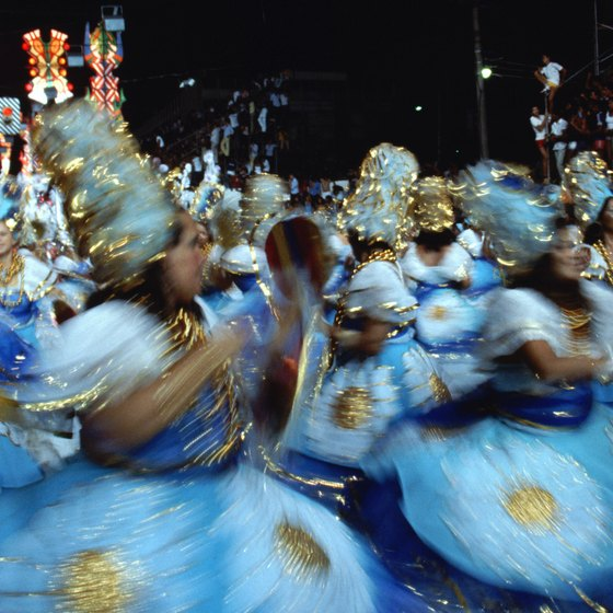Rio de Janeiro's carnival is a colorful spectacle.