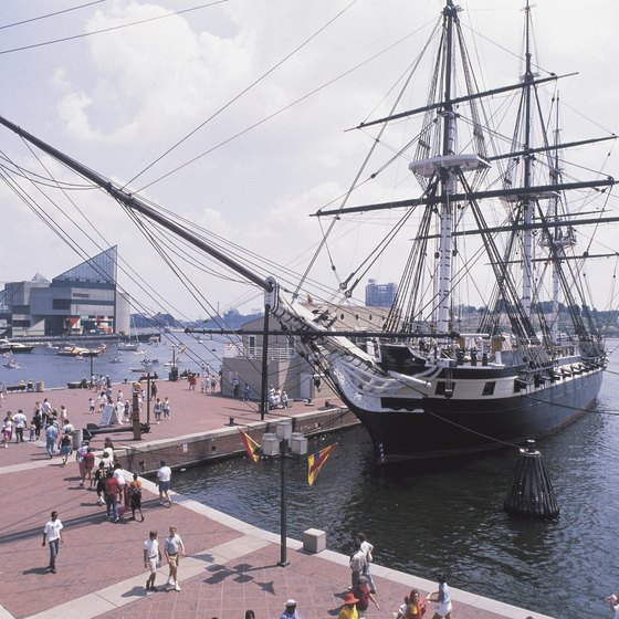 Baltimore's Inner Harbor is a short drive from the city's international airport.