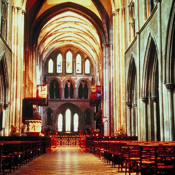 St. Patrick's Cathedral in Dublin is a frequent stop on Irish group tours.