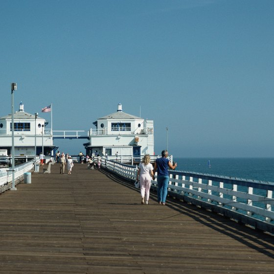 Tourists enjoy visiting the Malibu Pier.