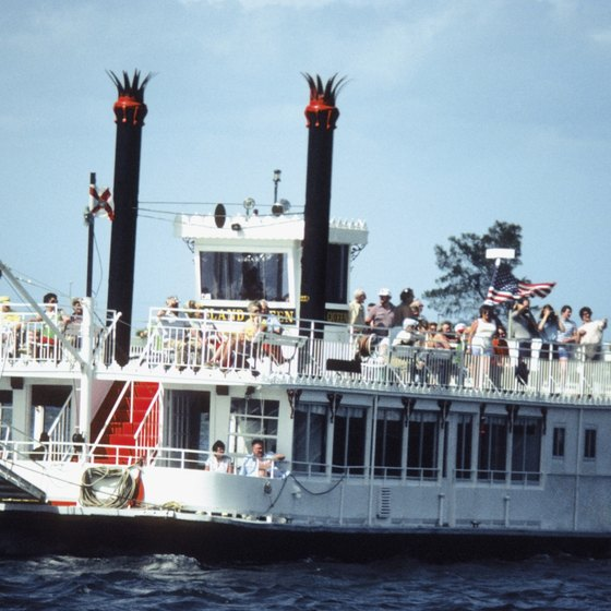 Enjoy a quiet riverboat ride in Orlando.