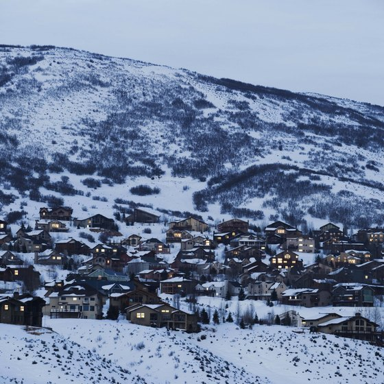 Snow covered Park City