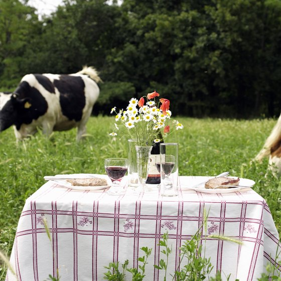 Dining surrounded by nature and wildflowers is one way of feeling like the only two people in the world.