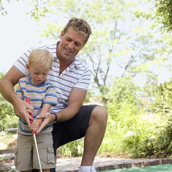 Mini golfing in Westminster offers fun for the entire family.