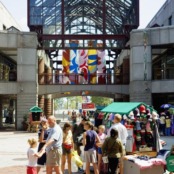Boston's open-air markets are options for parents with toddlers.