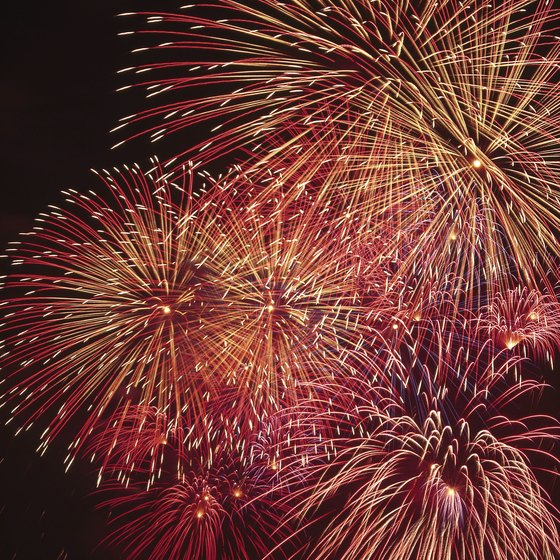 Fireworks light up the night sky at the Patriot Festival.