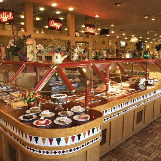 All-you-can-eat buffets are an economical dining choice.
